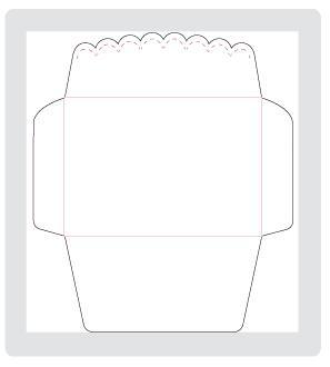 Scallope envelope die