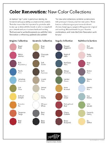 COLOR RENOVATION CHART