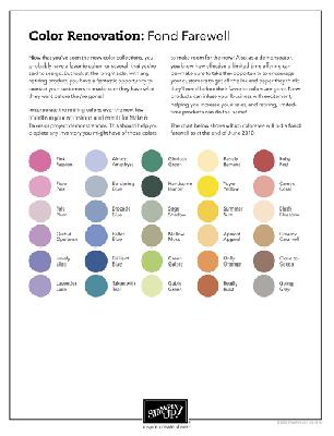 COLOR RENOVATION CHART II