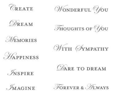 LOVING THOUGHTS STAMP SET