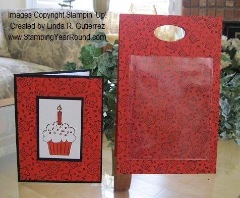 CUPCAKE CARD & MATCHING BAG