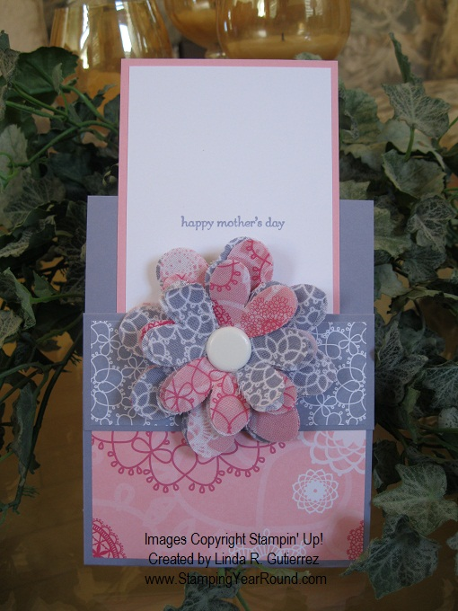 FLIRTATIOUS POCKET FABRIC FLOWER CARD