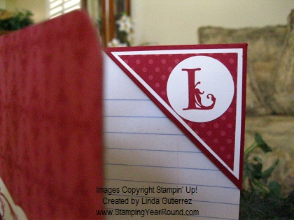 PERSONALIZED CORNER BOOKMARK