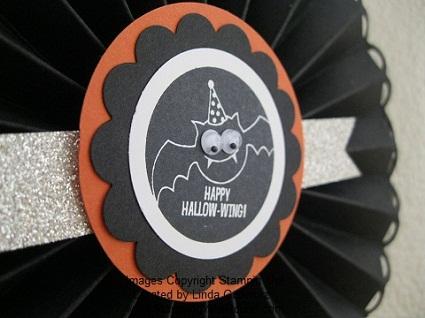 Halloween rosette close up