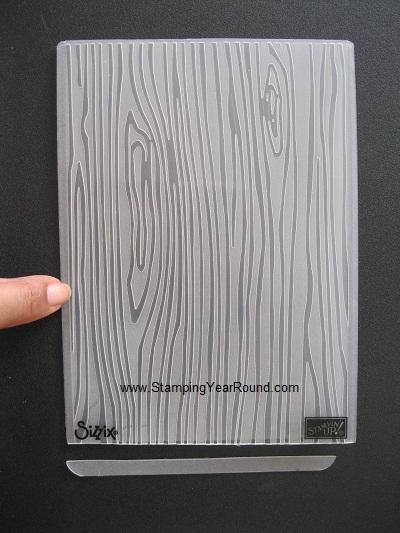 Embossing folder cut