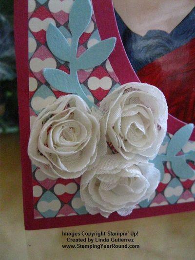 Easle card flower trim