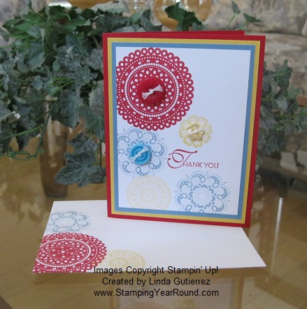 Lacy & lovely button card