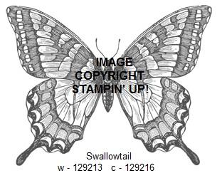 Swallowtail stamp