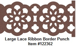 Lace ribbon border punch