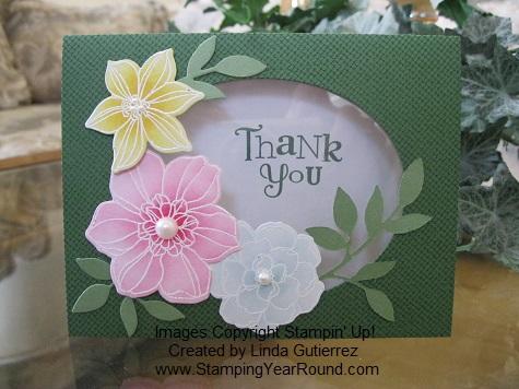 Secret garden window card