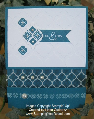 Mosaic window sheet card