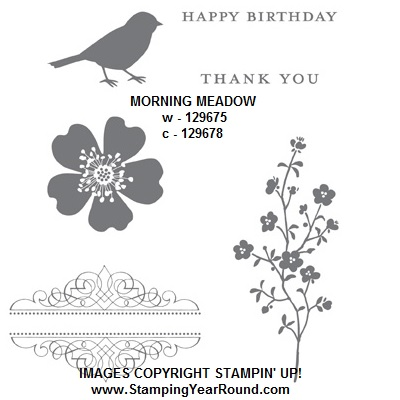 Morning meadow stamp set