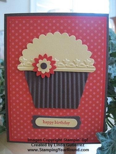Petal cone die cupcake card