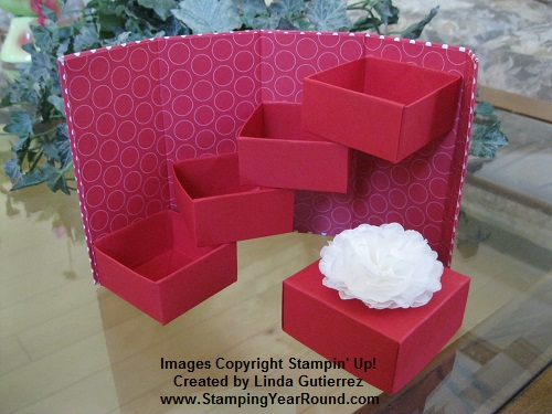 Stairstep box with flower