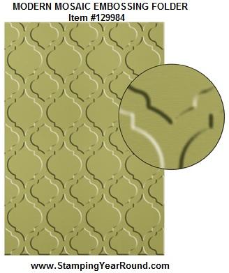 Modern mosaic embossing folder