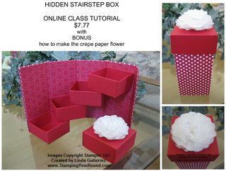 Hidden stairstep box flier