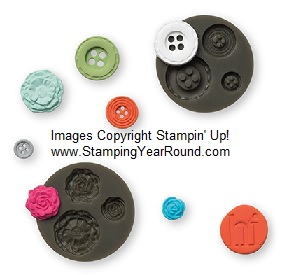 Buttons & blossoms simply pressed clay molds