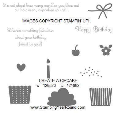 Create a cupcake stamp set