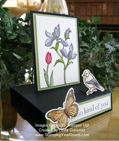 Free standing pop-up card side view
