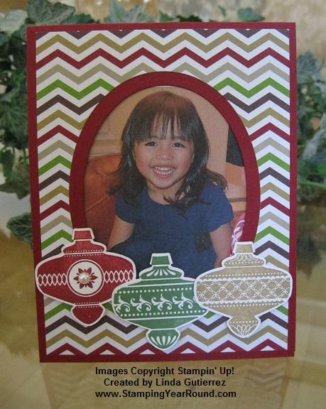 Photo frame christmas card a