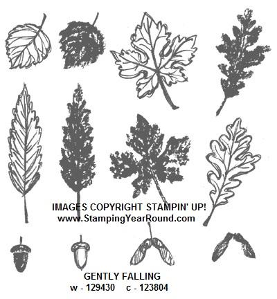 Gently falling stamp set