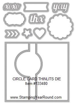Circle card thinlits die