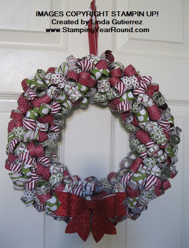 Christmas wreath with curled dsp