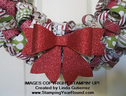 Christmas wreath bow