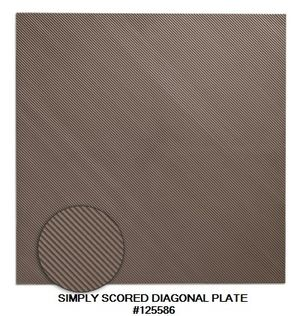 SIMPLY SCORED DIAGONAL PLATE