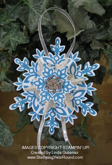 Festive flurry ornament a