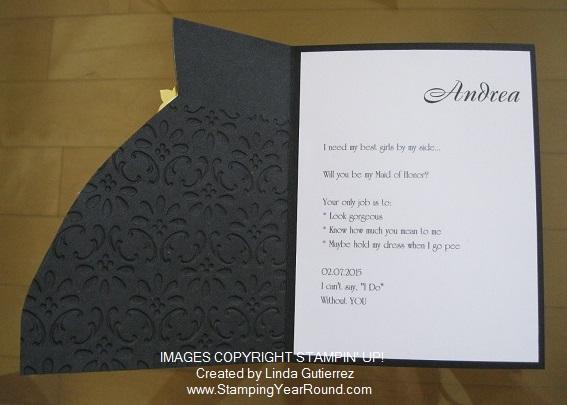 Brides maids invites c