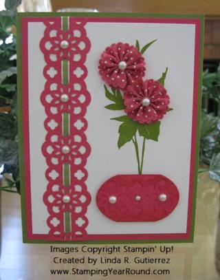 RIBBON PUNCH CARD OLIVE & MAMBO