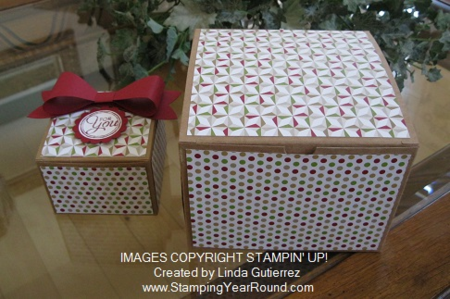 Kraft gift boxes lg and small
