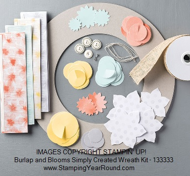 Burlap and Blooms Simply Created Wreath Kit by Stampin' Up!