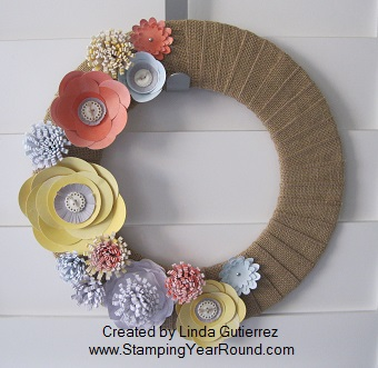 Burlap and Blooms Simply Created Wreath Kit