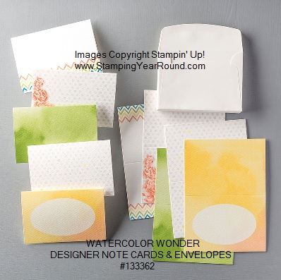 Watercolor wonder designer note cards & envelopes