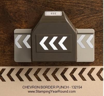 Chevron border punch