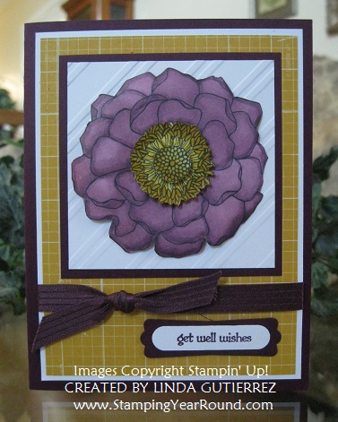Blackberry bliss blended bloom card