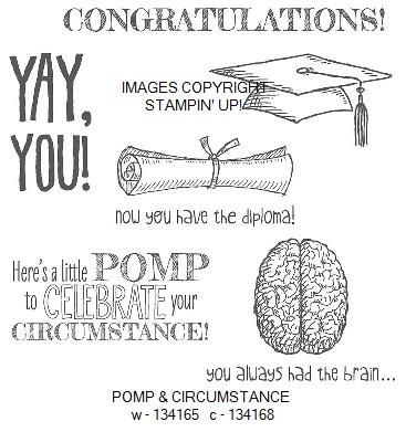 Pomp & circumstance stamp set