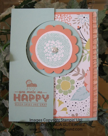 Petal parade circle thinlit card front
