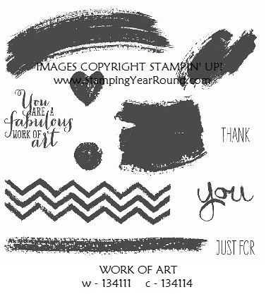 Work of art stamp set
