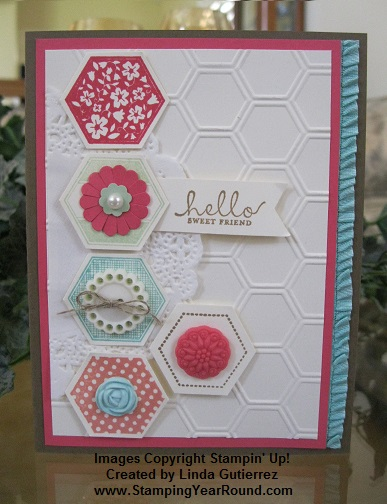 Six sided sampler class card