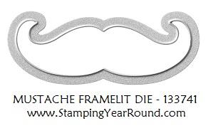 Mustache framelit die