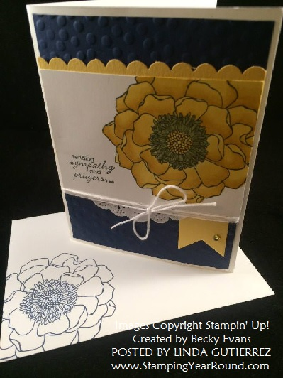 Blended bloom card by becky evans