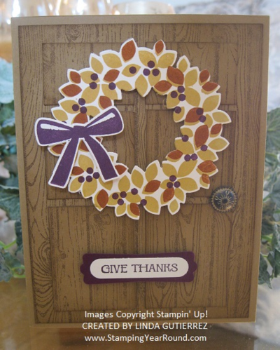 Wonderous wreath fall card