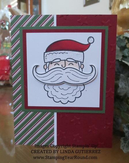Santa stache santa card