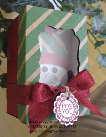 Tealight snowman in a box b