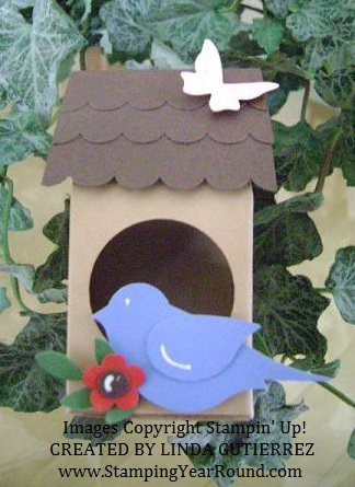 Milk carton bird house
