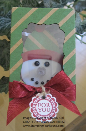 Tealight snowman in a box a