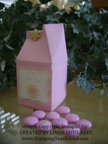 Milk carton pink